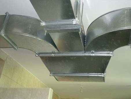 Production of ventilation ducts